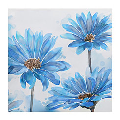 Bright Blue Garden Canvas Art Print