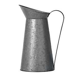 Galvanized Metal Decorative Pitcher Vase