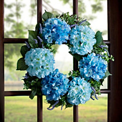 Blue Hydrangea Bunch Wreath