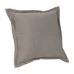 Smoke Gray Washed Linen Pillow