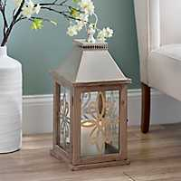 Natural Champagne Scroll Lantern