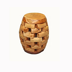 Oval Teak Stack Stool