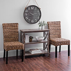 Banana Bark Parsons Chairs, Set of 2