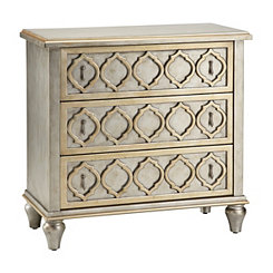 Silver Moroccan 3-Drawer Accent Chest