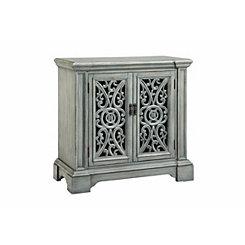 Verdigris Antique 2-Door Cabinet