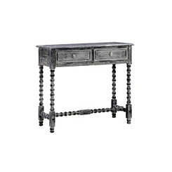 Antique Black Spindle Turned Console Table