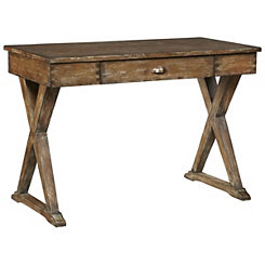 Honey Brown Cross Legged Writing Desk