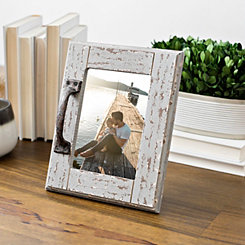 Rustic Picture Frame with Decorative Handle, 5x7
