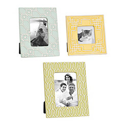 Sylvia Geometric Picture Frames, Set of 3