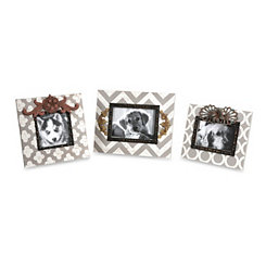 Patterned Picture Frames, Set of 3