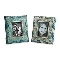 Haani Hand Painted Picture Frames, Set of 2