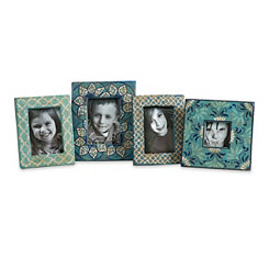 Kabir Hand Painted Picture Frames, Set of 4
