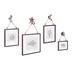 Sea Side Picture Frames, Set of 4