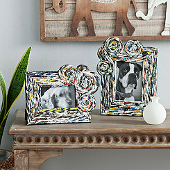 Anise Recycled Magazine Picture Frames, Set of 2