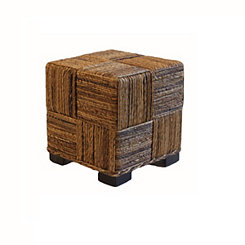 Woven Abaca Cube Ottoman
