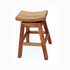 Solid Mahogany Swivel Counter Stool