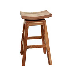 Solid Mahogany Swivel Bar Stool