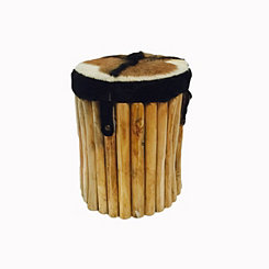 Toleno Safari Round Drum Stool