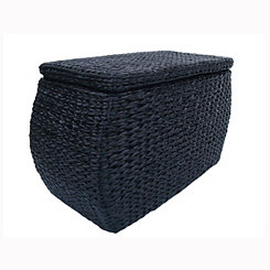 Black Havana Weave Rectangular Storage Ottoman