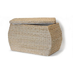 Natural Havana Weave Rectangular Storage Ottoman