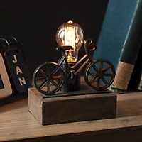 Cast Iron Bicycle Edison Bulb Uplight