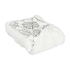 Ivory Medallion Throw Blanket