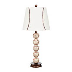 Tall Stacked Baseball Table Lamp