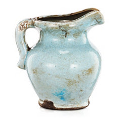 Ceramic Light Blue Pitcher