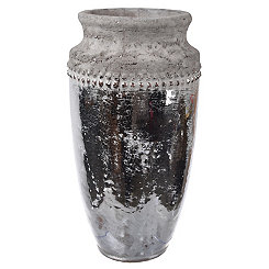 Rustic Silver and Gray Vase