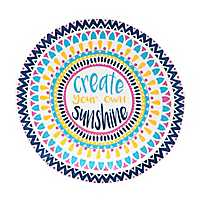 Create Your Own Sunshine Round Beach Towel