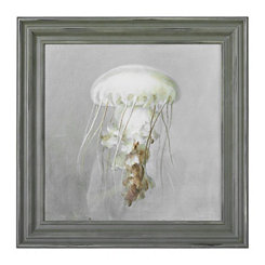 From the Sea Jellyfish Framed Art Print