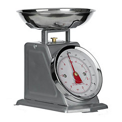 Gray Stainless Steel Kitchen Scale