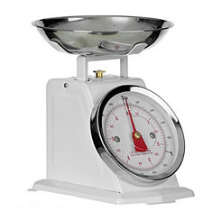 White Stainless Steel Kitchen Scale