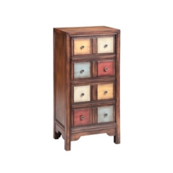 Multi-Colored 4-Drawer Chest