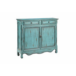 Distressed Catalina Blue Cabinet