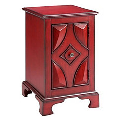 Robust Red Accent Cabinet
