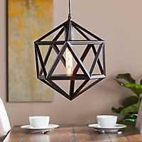 Kitsie Geometric Cage Pendant Light