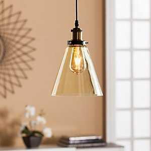 Samantha Champagne Glass Mini Pendant Lamp