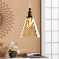 Samantha Champagne Glass Mini Pendant Lamp