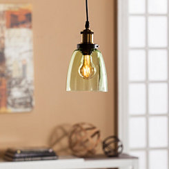 Adaline Green Glass Mini Pendant Lamp