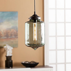 Timithia Green Glass Pendant Lamp