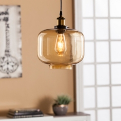 Agatha Amber Glass Pendant Lamp