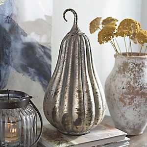 Gray Foil Glass Gourd