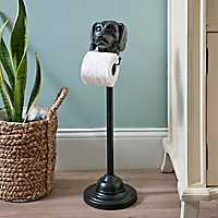 Black Bronzed Dog Toilet Paper Holder