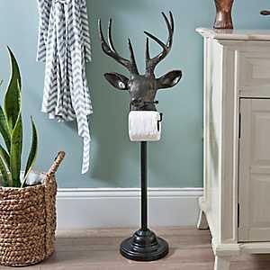 Black Bronzed Deer Toilet Paper Holder
