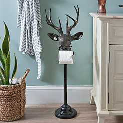 Black Bronzed Deer Toilet Paper Holder
