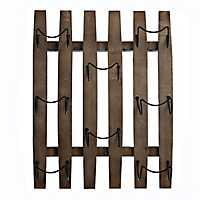 Wooden Barrel Plank Wine Rack