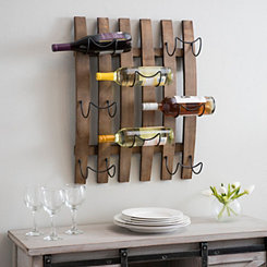 Wooden Barrel Plank Wine Rack