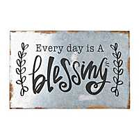 Every Day Is a Blessing Galvanized Box Plaque