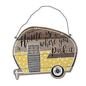Home Is Where You Park It Camper Wall Plaque